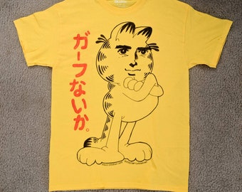 Handsome Cat - Tshirt handdrawn with fabric dye marker - Specify size when ordering