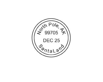 Cool North Pole Santa Postmark For Christmas Rubber Stamp Postal With