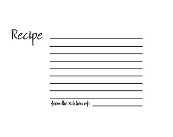 CLEARANCE RETIRED Blank Recipe Card Rubber Stamp
