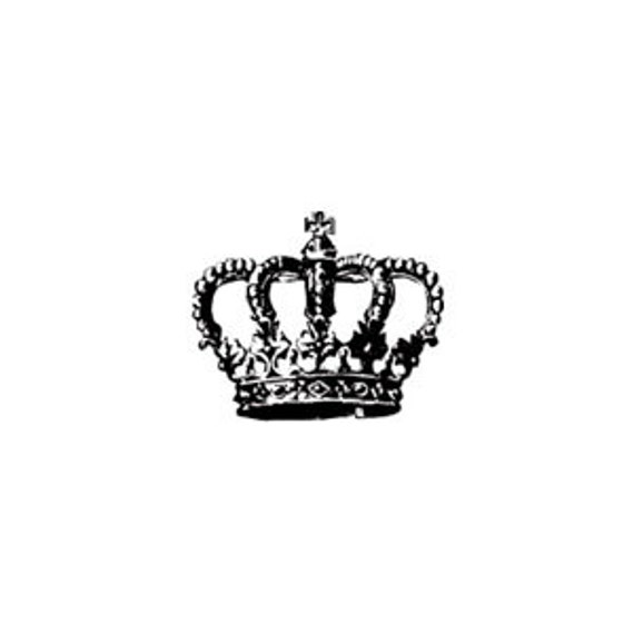 Mini Royal Crown Rubber Stamp