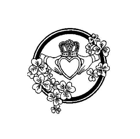 Celtic Claddagh Symbol Rubber Stamp Etsy
