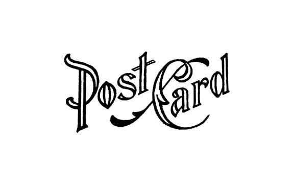vintage postcard header postcard rubber stamp etsy