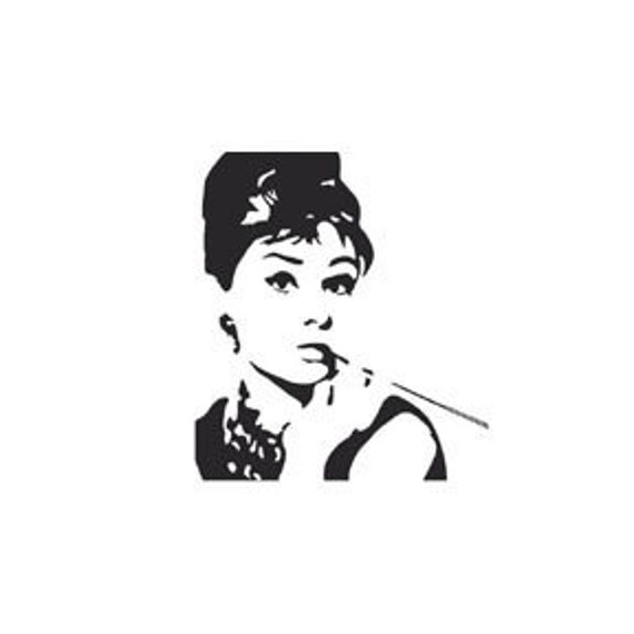 Mini Audrey Hepburn Rubber Stamp Breakfast At Tiffanys Etsy