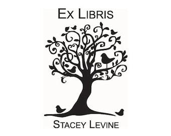 Bookplate Stamp Ex Libris custom tree stamp