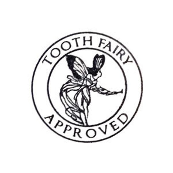 Tooth Fairy approved Rubber Stamp