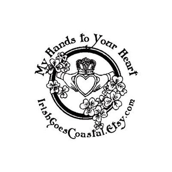 Celtic Claddagh Symbol Custom Rubber Stamp Etsy
