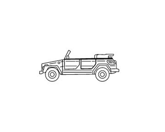 VW volkswagen convertible the Thing rubber stamp
