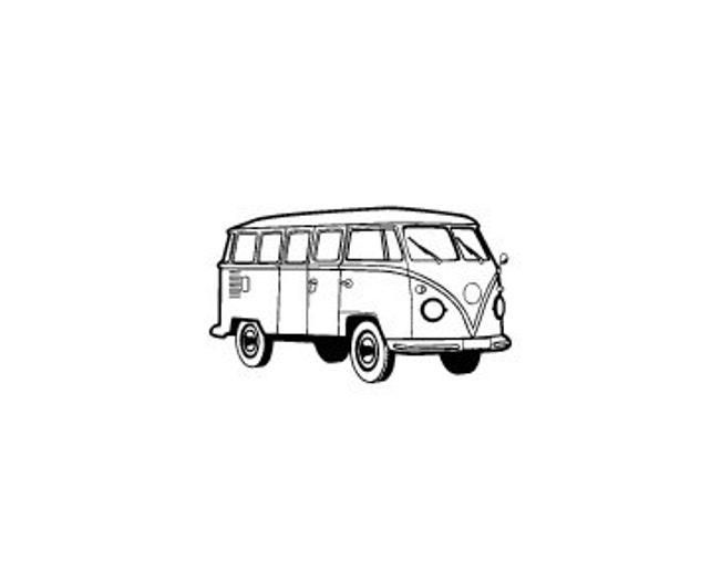 VW volkswagen bus rubber stamp kombi