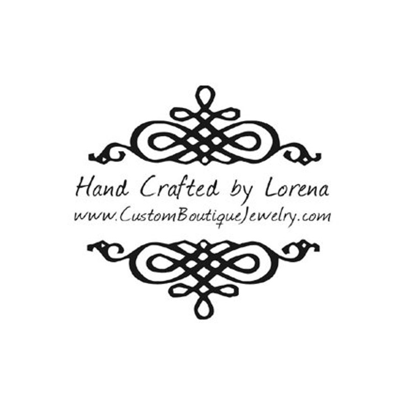 decorative flourish handcrafted by custom rubber stamp