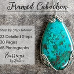 Wire Jewelry Tutorial Framed Cabochon Pendant Wire Wrap Step by Step Guide, PDF Download, Jewellery Tutorial Digital Download