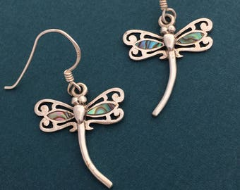 Dragonflies with abalone shell