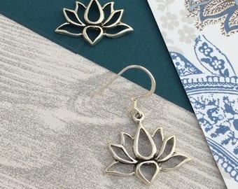 Beautiful Lotus Flower Earrings
