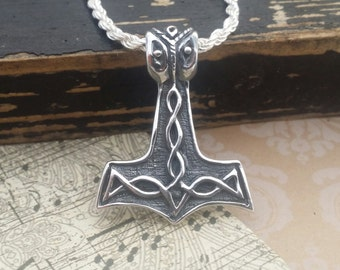 Sterling Silver Pendant - Thor's Hammer