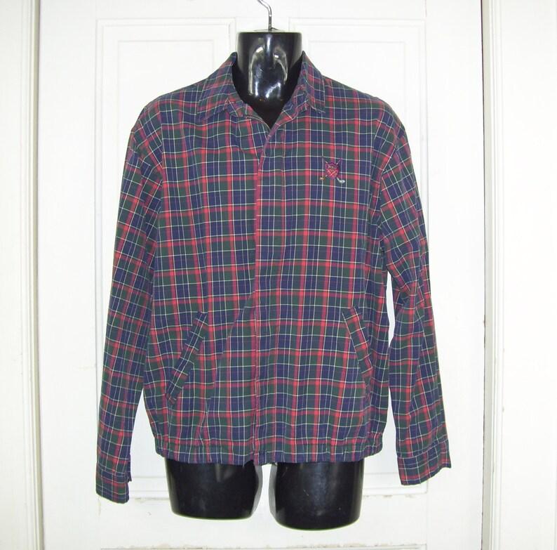 26f010484 Polo Golf Wind Breaker Vintage Plaid Ralph Lauren Jacket