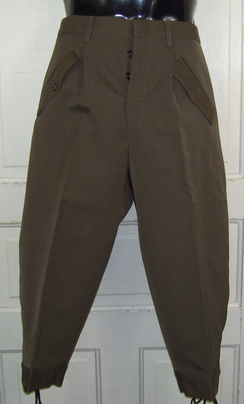 Bidermann Pants French Uniformes Military Jodpurs Knickers  c72429baee57