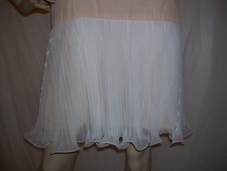 Jellyfish Costume Dress White Pleats Curly Ruffle Hemline Jelly Fish Halloween Costume Party Flapper Dress Elinor Gay 60/'s Slip Dress sz S M