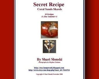 Tutorial - Lampwork Glass - Secret Recipe - Coral Sands Shards