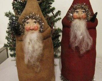 Primitive Santa Belsnickel Christmas Pattern Chickadee Primitives