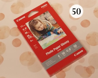 "Canon Photo Paper Glossy 4x6, 50 Sheets, GP-601 , 4"" x 6"" Glossy Photo Paper, 56 lbs, gloss photo paper sheets 4x6 inch, canon pixma"