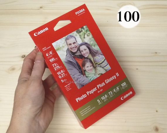 Canon Photo Paper Plus Glossy Ii 4x6 100 Sheets Pp 201 Etsy