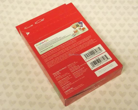 Canon Photo Paper Plus Glossy Ii 4x6 100 Sheets Pp 301 Etsy