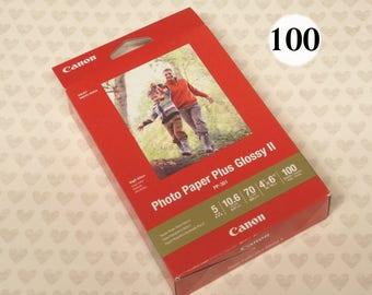 """Canon Photo Paper Plus Glossy II 4x6, 100 Sheets, PP-301 , 4"""" x 6"""" Glossy Photo Paper, 70 lbs, gloss photo paper sheets 4x6 inch, glossy 2"""