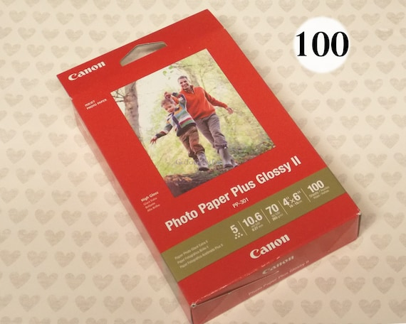 """Lot of 2 Canon Photo Paper Plus Glossy II 4/"""" x 6/"""" 100 Sheet Pack NEW PP-301"""