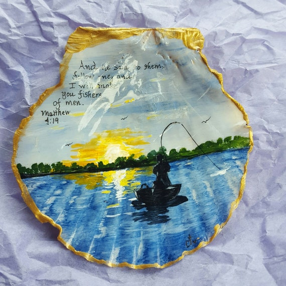 Hand Painted 3 Inch Seashell With Scriptures For Your