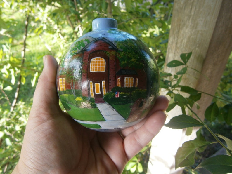 Custom Hand Painted 4 Inch Christmas Ornament Painted Of Your Etsy