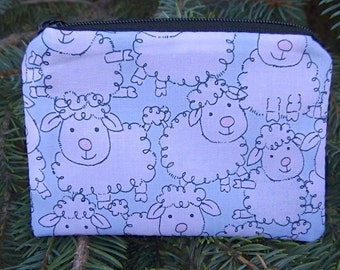 Sheep coin purse sheep stitch marker pouch The Raven Cute Sheep credit card case gift card pouch