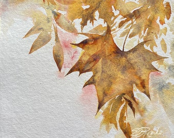 Autumn Meditation -  Original Watercolor Painting by Ericka O'Rourke