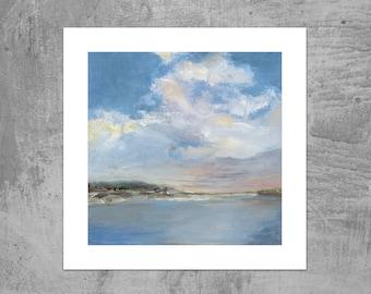 Coastal Trail Clouds - Coastal Maine - Art Print from an Original Oil Painting by Ericka O'Rourke