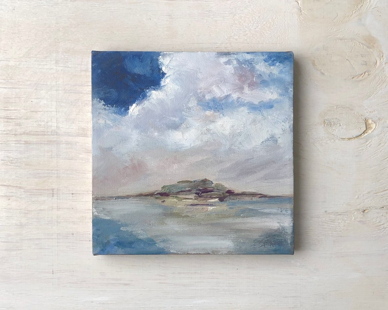 Coastal Clouds  Coastal Maine  Original Oil Painting by image 0