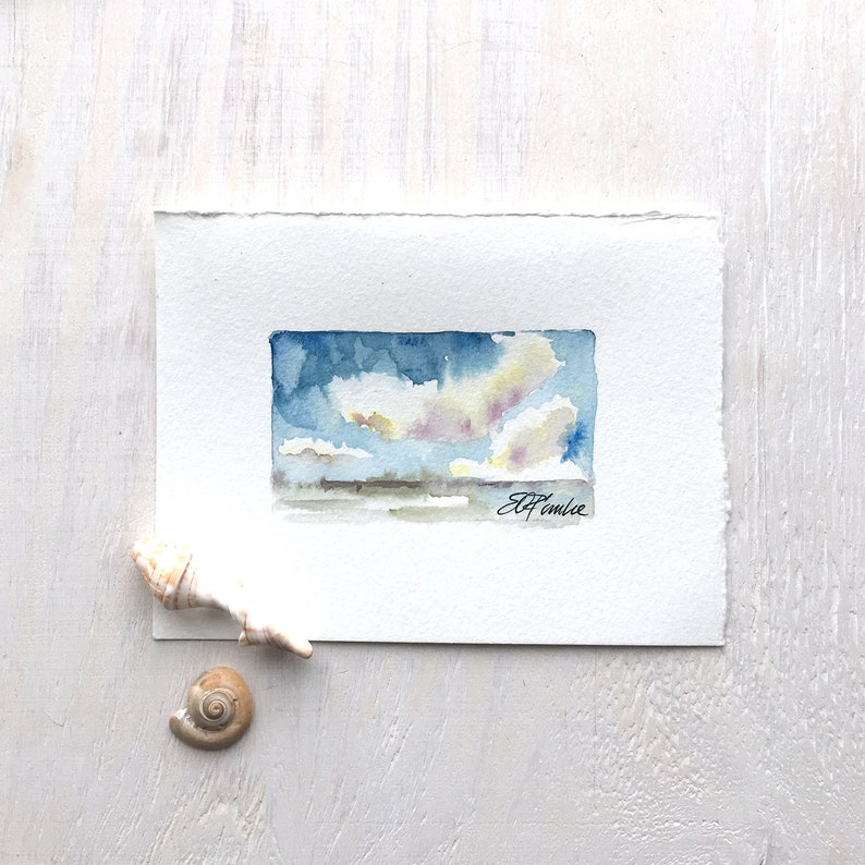 Coastal Sky  A watercolor small image 0