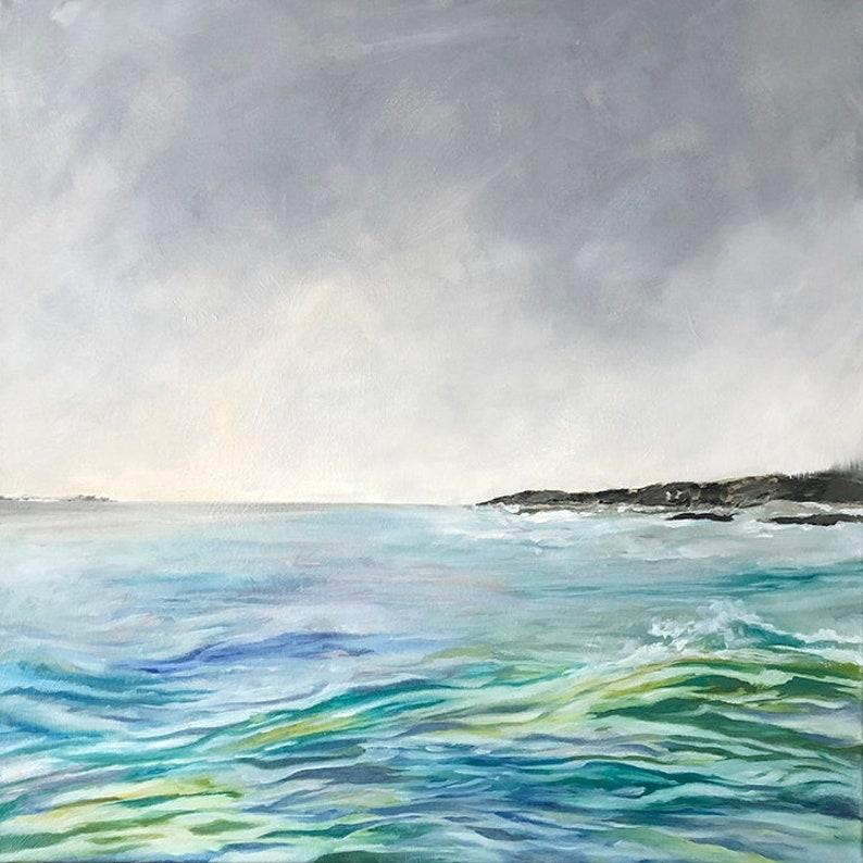 Salt Pond Ebb  Coastal Decor  Original Oil Painting by image 0
