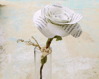 2nd Wedding COTTON Anniversary Flower Gift i carry your heart with me by Cotton Bird Designs