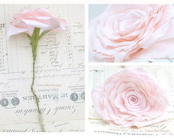2nd Anniversary Pink COTTON Fabric Flower Gift for Her Wife Girlfriend Fiancee Second Wedding Anniversary Gifts by Cotton Bird Designs
