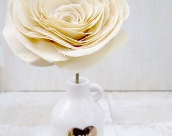COTTON Fabric Rose 2nd Wedding Anniversary Bloom  by Cotton Bird Designs