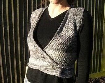 Gneiss - Crochet Pattern for Waistcoat Vest sleeveless cardigan wrap gilet PDF