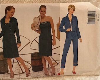 Butterick Sewing Pattern 6591 in sizes 12,14,16