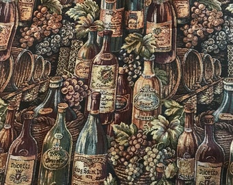 Wine Bottle Fabric - Discontinued fabric