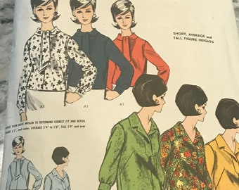 Vintage Vogue Swing Pattern 3020 in size 14 - Proportioned Blouse