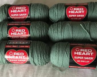 Yarn - Red Heart Super Saver in Light Sage