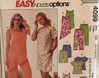 McCalls Sewing Pattern 4099 in sizes 16-22