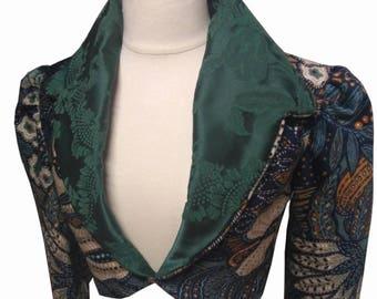 August Valentine Emerald Green Crop Mini Jacket