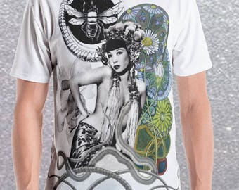 Mens Curiosity Graphic Fitted T August Valentine Limited Edition