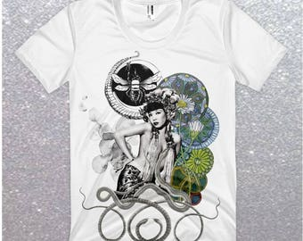 Womens Curiosity Graphic T August Valentine Limited Edition