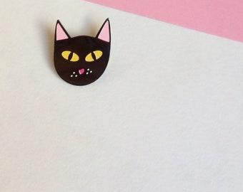 Cat Enamel Pin – Cat Brooch Pin – Cat gift – Black Cat – Best Friend Gift