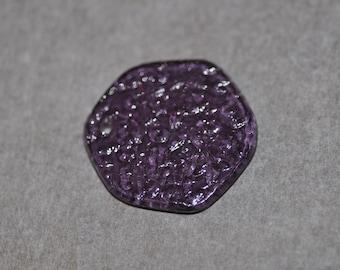 Purple Lucite Pendant or Charm