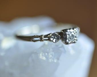 14K Art Deco Diamond Engagement Ring